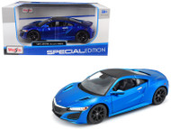 2017 Acura NSX Blue JDM 1/24 Scale Diecast Car Model By Maisto 31234