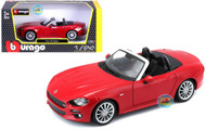 Fiat Spider Red 1/24 Scale Diecast Car Model By Bburago 21083