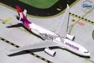 HAWAIIAN AIRLINES AIRBUS A330-200 NEW LIVERY N380HA 1/400 SCALE DIECAST MODEL BY GEMINI JETS GJHAL1787