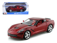 2014 Chevrolet Corvette Stingray C7 Red 1/18 Scale Diecast Car Model BY Maisto 31182
