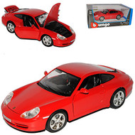 Porsche 911 Carrera 4S Red 1/18 Scale Diecast Car Model By Bburago 12037