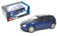 Volkswagen Golf Blue 1/18 Scale Diecast Car Model By Bburago 12071