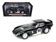 1965 Ford Shelby Cobra Daytona Coupe #98 Black 1/18 Scale Diecast Car Model By Shelby Collectibles SC 148