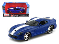 2013 Dodge Viper SRT Blue 1/24 Scale Diecast Car Model By Maisto 31363
