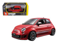 Fiat Abarth 500 Red 1/24 Scale Diecast Car Model By Bburago 22111