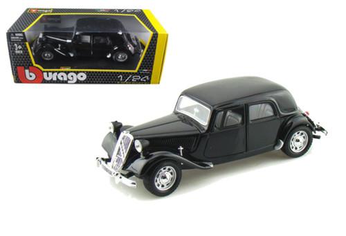 1938 Citroen 15 CV TA Black 1/24 Scale Diecast Car Model By Bburago 22017