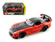 Dodge Viper SRT10 ACR Orange 1/24 Scale Diecast Car Model By Bburago 22114