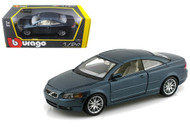 Volvo C70 Coupe Blue 1/24 Scale Diecast Car Model By Bburago 22100