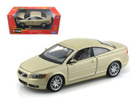 Volvo C70 Coupe Gold 1/24 Scale Diecast Car Model By Bburago 22100