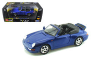 Porsche 911 Carrera Cabriolet Blue 1/24 Scale Diecast Car Model By Bburago 22080