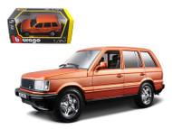 Land Rover Range Rover Orange 1/24 Scale Diecast Model By Bburago 22020