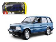 Land Rover Range Rover Blue 1/24 Scale Diecast Model By Bburago 22020