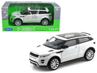 Land Rover Range Rover Evoque White 1/24 Scale Diecast Car Model By Welly 24021