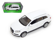 Audi Q7 White 1/24 Scale Diecast Car Model By Welly 22481