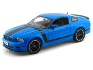 Shelby Collectibles 1/18 Scale 2013 Ford Mustang Boss 302 Blue Diecast Car Model SC 450