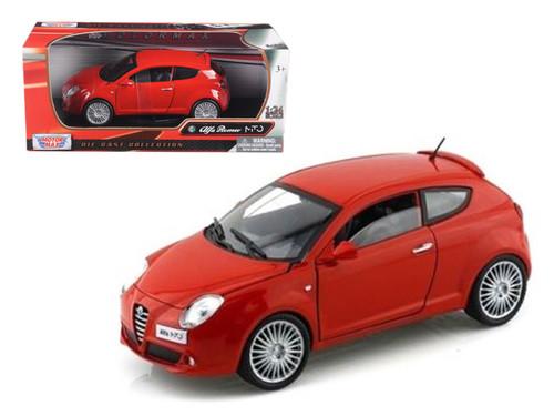 Alfa Romeo Mito Red 1/24 Scale Diecast Car Model By Motor Max 73371