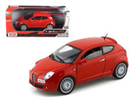 Alfa Romeo Mito Red 1/24 Scale Diecast Car Model By Motor Max 73371