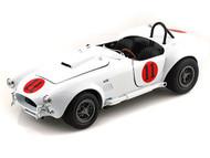Auto World 1/18 Scale 1965 Shelby Cobra 427 S/C #11 Elvis Presley Spinout White Diecast Car Model AWSS104