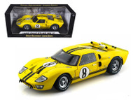 1966 Ford GT-40 MK II #8 Yellow 1/18 Scale Diecast Car Model By Shelby Collectibles SC 417
