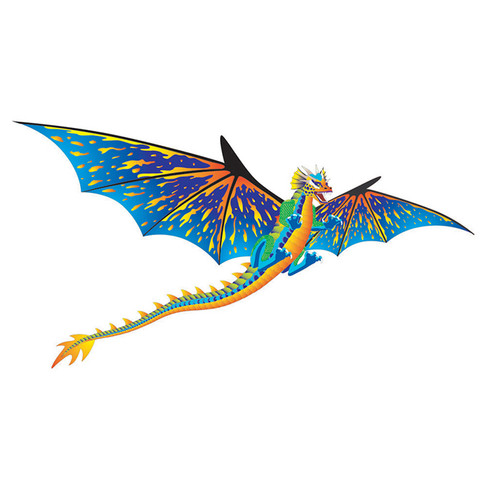 "76"" 3D Dragon Kite (Blue)"