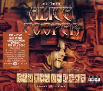ALICE COOPER Brutally Live Double CD