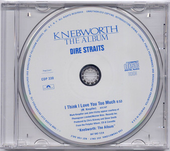 """DIRE STRAITS - I Think I Love You Too Much (5"""" CD SINGLE)"""