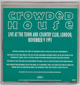 CROWDED HOUSE - Live At The Town And Country Club (DOUBLE CD)