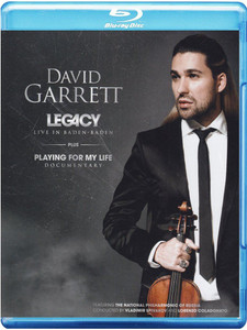 DAVID GARRETT Legacy Live In Baden Baden BLU-RAY NEW/SEALED Playing For My Life