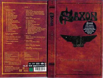 SAXON The Saxon Chronicles 2003 2-DVD + 52-page book Deluxe box set NEW/SEALED