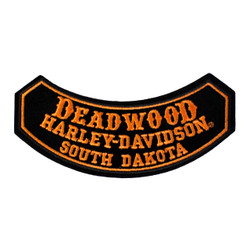 Deadwood Harley-Davidson® Small Rocker Emblem Patch