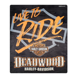 "Deadwood Harley-Davidson® ""Live to Ride"" Silk Touch Throw Blanket"
