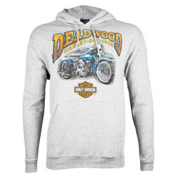 Deadwood Harley-Davidson® Men's Vintage Mint Steel Heather Pullover Hooded Sweatshirt