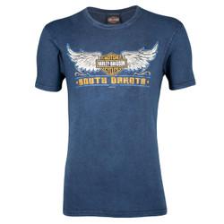 Hill City Harley-Davidson® Men's Old School Navy Wash T-Shirt