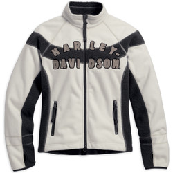 Harley-Davidson® Women's Rally Inline Windproof Off White Fleece Jacket
