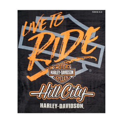 "Hill City Harley-Davidson® ""Live to Ride"" Silk Touch Throw Blanket"