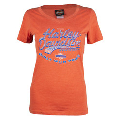 Sturgis Harley-Davidson® Women's Custom Factory Orange T-Shirt
