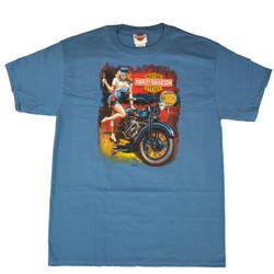 Sturgis Harley-Davidson® Men's Fix Her Up Denim Blue Short Sleeve T-Shirt