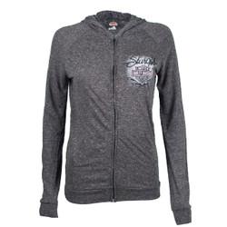 Sturgis Harley-Davidson® Women's Sturgis Wash Lightweight Charcoal Zip Hoodie