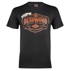 Deadwood Harley-Davidson® Men's Cards Black Short Sleeve T-Shirt