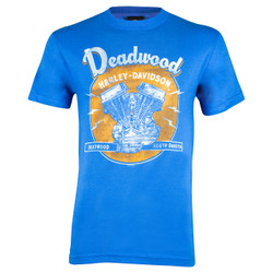 Deadwood Harley-Davidson® Men's Vintage Royal Blue T-Shirt
