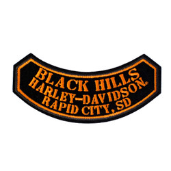 Black Hills Harley-Davidson® Small Rocker Emblem Patch