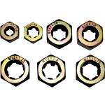 8017 - 7Pc Metric Die Nut Set 6,8,10,10,12,12,12mm