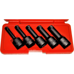"""8914 - 5Pc. 1/2"""" Dr. Impact Wedge-Proof Extrator Set"""