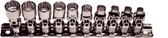 "92810 - 10 Piece 1/4"" Drive12 Point Metric Universal Sockets"