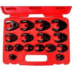 93916 - 16Pc. SAE Flare Nut Crowsfoot Wrench set