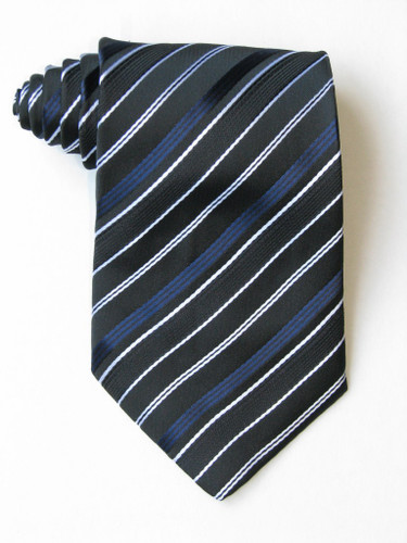 Blue And White Stripe Tie