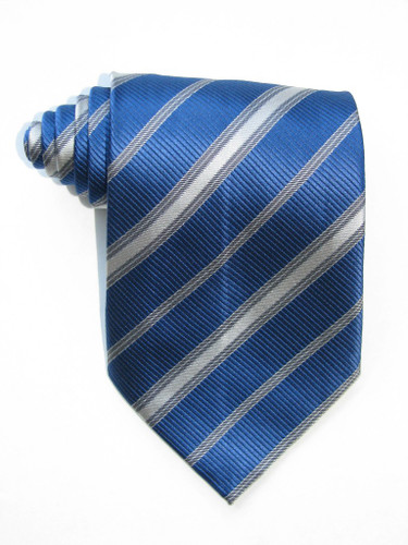 Blue And Grey Stripe Tie