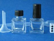 Glass CUBE Square Perfume Bottles - .24oz (7.9mL)