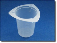 (1) Tri-Pour No Drip Graduated Plastic Measure Cup -- 3.4oz (100mL)