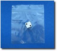 (100) Plastic Zip-Lock Bags - 4X4 Inch (101mm X 101mm)